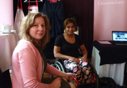 Booth at Dutch Championship Wheelchair Dancing 2013